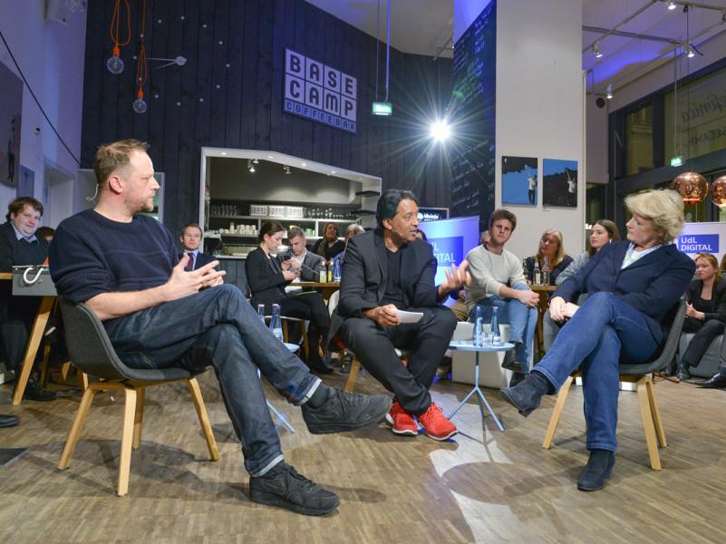 Cherno Jobatey mit Monika Grütters und Smudo-Wieviel Digitalisierung verträgt die Kultur?