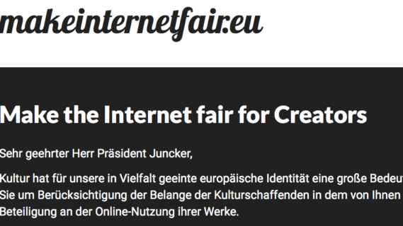 Make the Internet fair for Creators