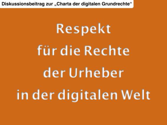 Charta der digitalen Grundrechte